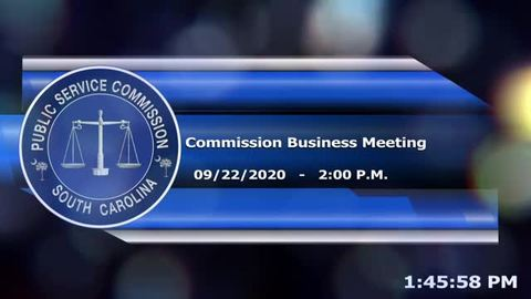 still of video titled 9/22/2020 - Commission Business Meeting