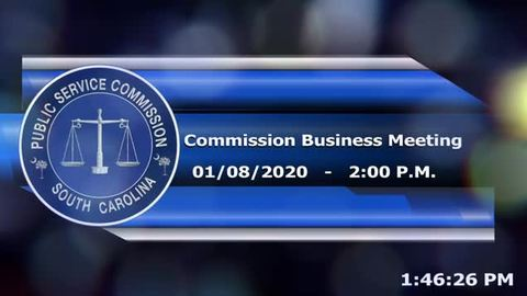 still of video titled 1/8/2020- Commission Business Meeting