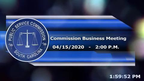 still of video titled 4/15/2020 - Commission Business Meeting