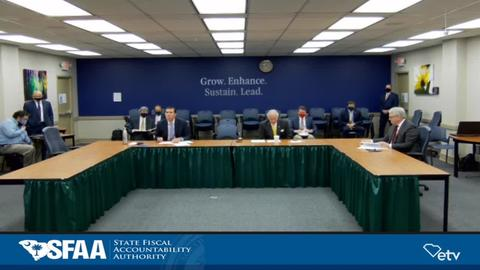 still of video titled State Fiscal Accountability Authority  Meeting: September 15, 2020
