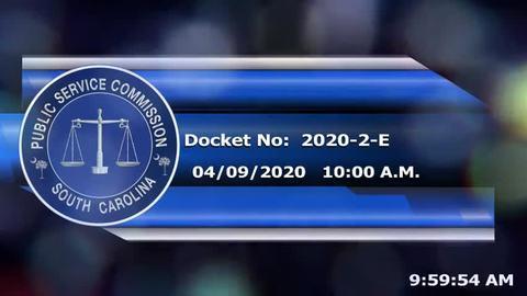 still of video titled 4/9/2020 - Docket No: 2020-2-E