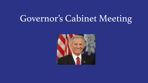 still of video titled Governor's Cabinet Meeting February 8, 2017