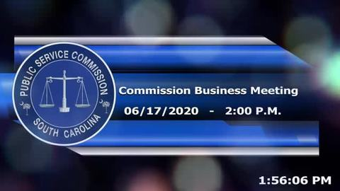 still of video titled 6/17/2020 - Commission Business Meeting