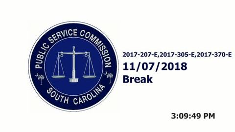 still of video titled Part 2 - 11/7/18  - SCE&G Company Hearings