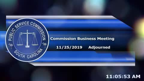 still of video titled 11/25/2019 - Public Service Commission Business Meeting