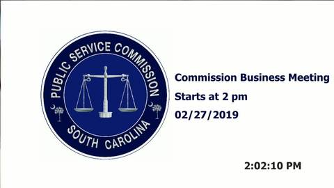 still of video titled 2/27/19- Public Service Commission Business Meeting