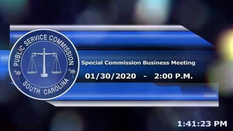still of video titled 1/30/2020 - Special Commission Business Meeting