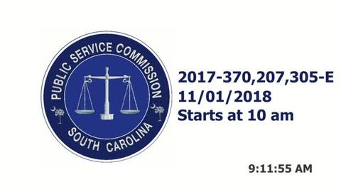 still of video titled 11/1/18 - SCE&G Company Hearings
