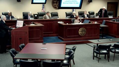 still of video titled 10/24/2018 - Public Service Commission Business Meeting