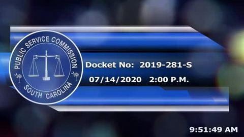 still of video titled 07/14/2020 - Docket No: 2019-281-S