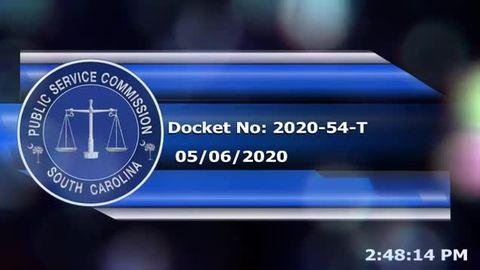 still of video titled 05/06/2020 - Docket No. 2020-54-T