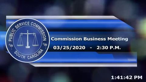 still of video titled 3/25/2020 - Commission Business Meeting