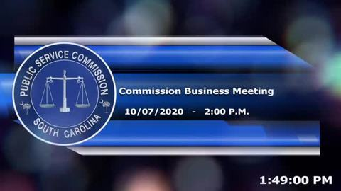 still of video titled 10/7/2020 - Commission Business Meeting