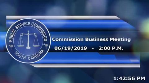 still of video titled 6/19/19 - Public Service Commission Business Meeting