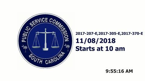 still of video titled 11/8/18 -  SCE&G Company Hearings