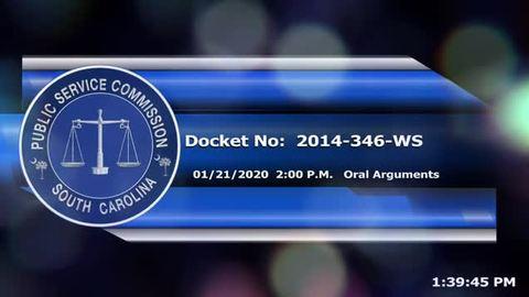 still of video titled 1/21/2020 - Docket No. 2014-346-WS