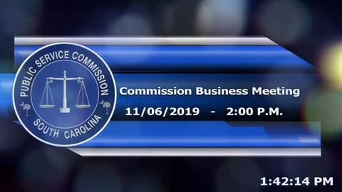 still of video titled 11/6/19 - Public Service Commission Business Meeting