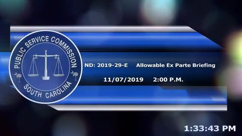 still of video titled 11/7/19 - ND-2019-29-E- Allowable Ex-Parte Briefing