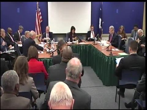 still of video titled S.C. State Fiscal Accountability Authority Meeting: October 27,2015