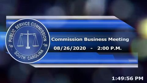 still of video titled 8/26/2020 - Commission Business Meeting