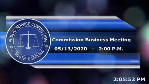 still of video titled 05/13/2020 - Commission Business Meeting