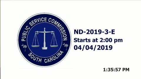 still of video titled 4/4/19  ND-2019-3-E -Public Service Commission Hearing