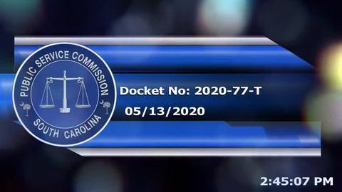 still of video titled 05/13/2020 -  Docket No. 2020-77-T