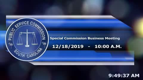 still of video titled 12/18/19 - Special Commission Business Meeting