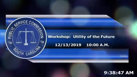 still of video titled 12/13/19 - Workshop on the Utility of the Future