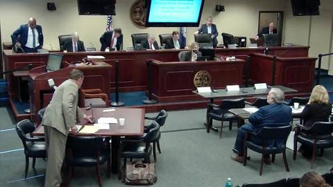 still of video titled 4/3/19 Part 2 - 2019-2-E  Public Service Commission Hearing