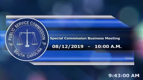 still of video titled 8/12/19 -  Special Business Meeting