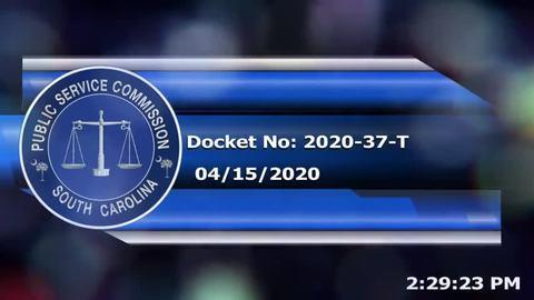 still of video titled 4/15/2020 - Docket No. 2020-37-T