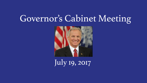 still of video titled Governor's Cabinet Meeting July 19, 2017
