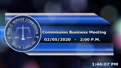 still of video titled 2/5/2020 - Commission Business Meeting
