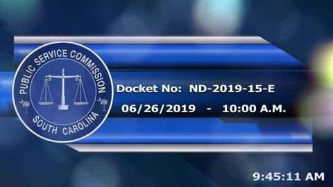 still of video titled 6/26/19 - ND-2019-15-E  Public Service Commission Hearing