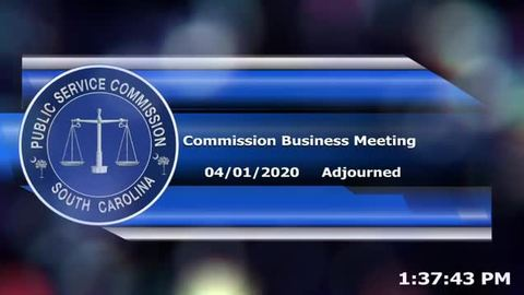 still of video titled 4/1/2020 - Commission Business Meeting