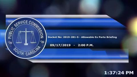 still of video titled 9/17/19 - Allowable Ex Parte Briefing