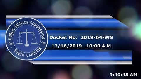 still of video titled 12/16/19 - Docket No. 2019-64-WS, Part 1