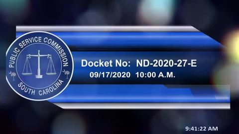 still of video titled 9/17/2020 - Docket No. ND-2020-27-E