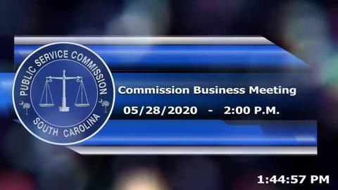 still of video titled 5/28/2020 - Commission Business Meeting