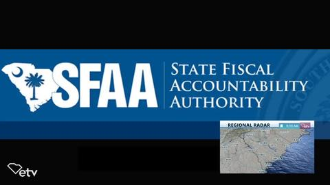 still of video titled S.C. State Fiscal Accountability Authority Meeting: May 11, 2020