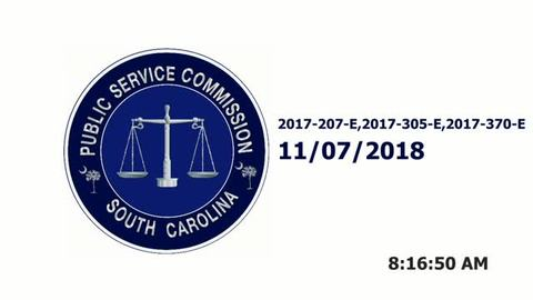 still of video titled Part 1 - 11/7/18  - SCE&G Company Hearings