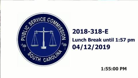 still of video titled 4/12/19 PART 3 - 2018-318-E Public Service Commission Hearing