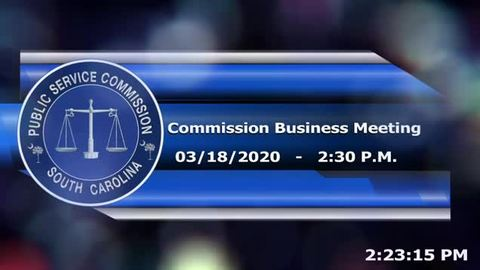 still of video titled 3/18/2020 - Commission Business Meeting
