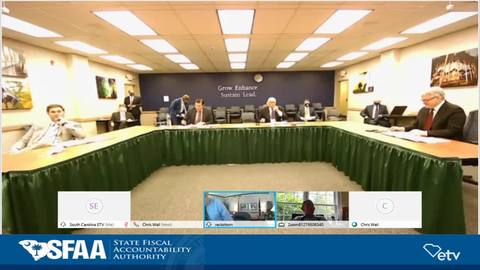 still of video titled S.C. State Fiscal Accountability Authority Meeting: August 18, 2020.