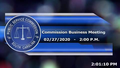 still of video titled 2/27/2020 - Commission Business Meeting