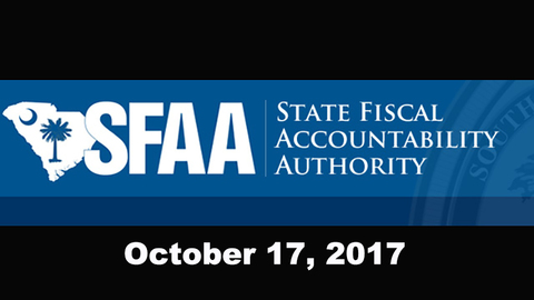 still of video titled S.C. State Fiscal Accountability Authority Meeting: October 17, 2017