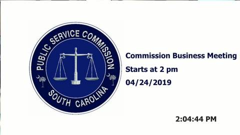 still of video titled 4/24/19 - Public Service Commission Business Meeting