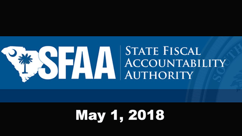 still of video titled S.C. State Fiscal Accountability Authority Meeting: May 1, 2018