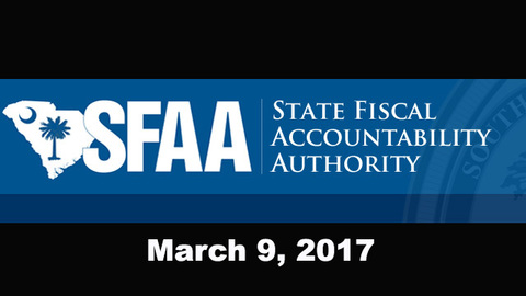 still of video titled S.C. State Fiscal Accountability Authority Meeting: March 9, 2017